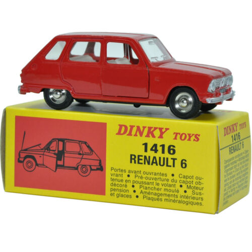 Dinky Toys New Editions Scale 1:43 1416 Renault 6 Alloy Diecast Car /& Toys Model