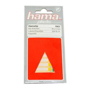 Hama Slide Titling Labels 35mm x 5mm 200 labels multi-coloured Hama 1951