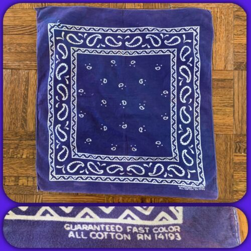 VTG GUARANTEED FAST COLOR Cotton BIKER BLUE BANDAN