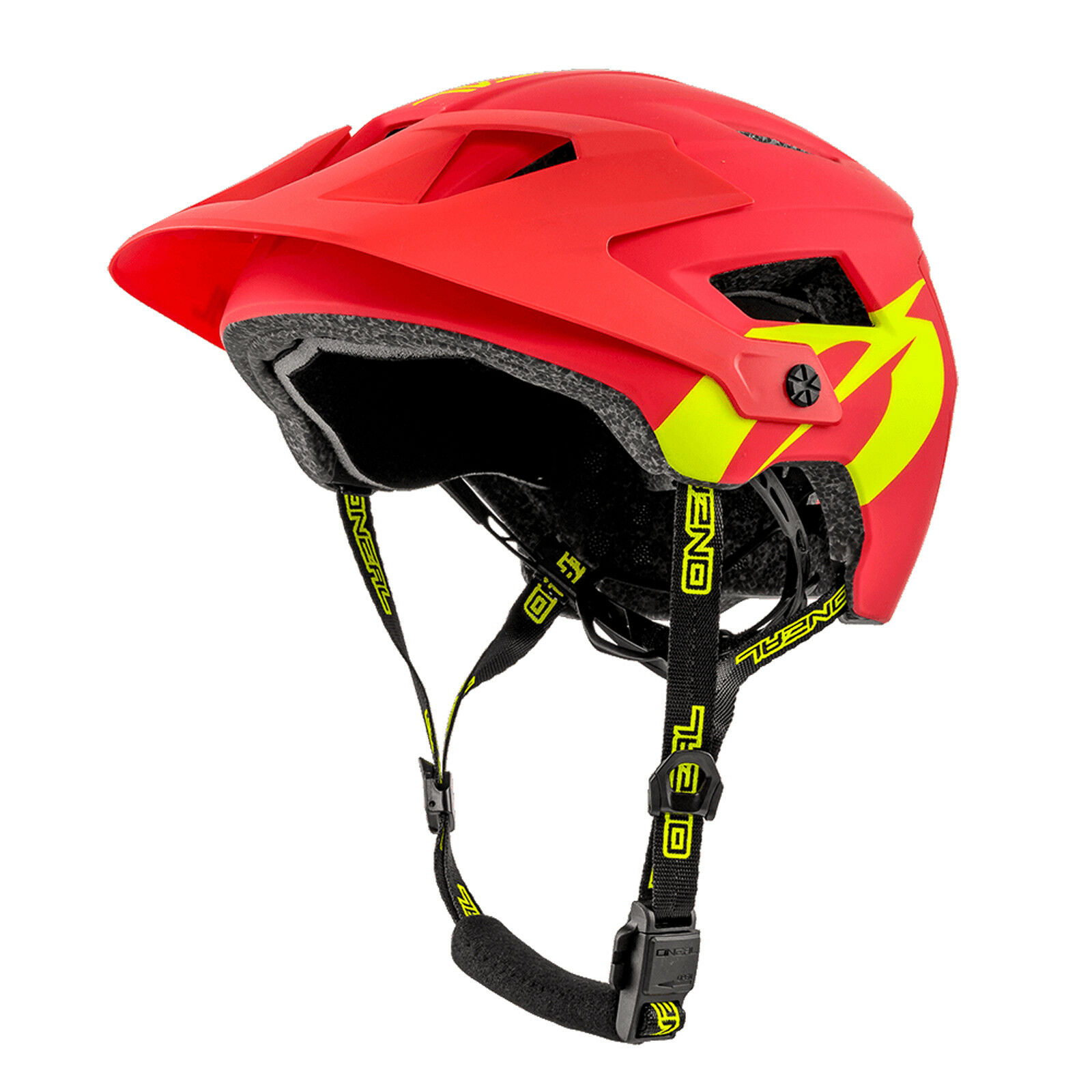 O 'Neal Defender 2.0 Solid ALL MOUNTAIN MTB BICICLETTA CASCO ROSSOGIALLO 2019 ONEAL