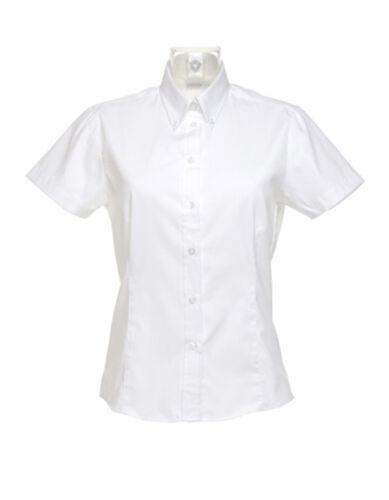Oxford Damenbluse Bluse Kurzarm Übergröße XXS XS S M L XL XXL 3XL 4XL 5XL 6XL