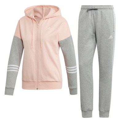 adidas Women Athletic Hoodie Tights Sports Set Tracksuit