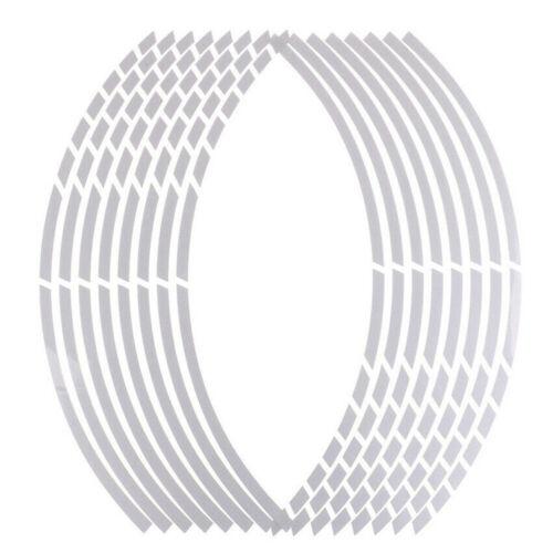 "Wholesale 17/""18/"" Motorcycle Car Wheel Sticker 16 Strips Reflective Rim Tape"