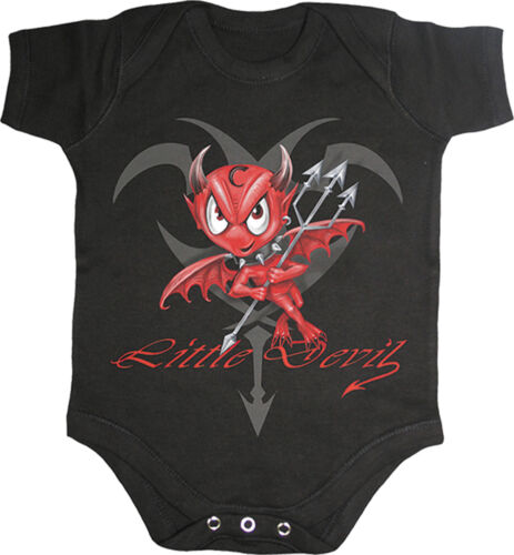 Spiral Direct LITTLE DEVIL Baby Grow//Toddler//Cute//Kids//Pet//Funny//Romper//Unisex