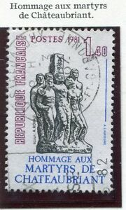 TIMBRE FRANCE OBLITERE N° 2177 / MARTYRS CHATEAUBRIANT Photo non contractuelle