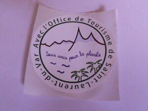 """Autocollant """"Saint Laurent Du Var"""""""