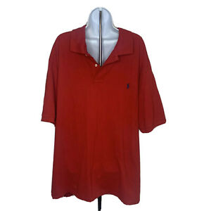 Polo-Ralph-Lauren-Mens-Polo-Golf-Shirt-Size-3XB-Big-and-Tall-Red-Short-Sleeves