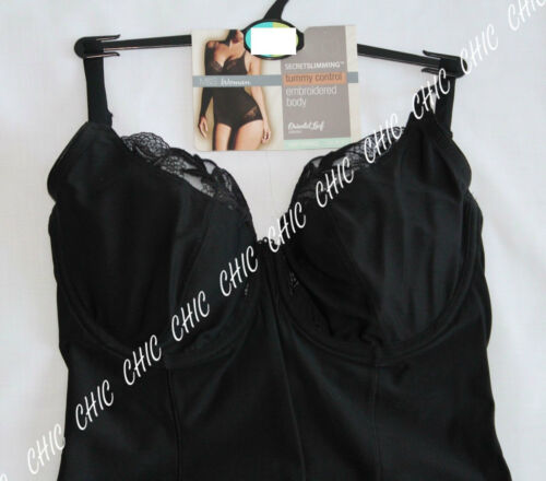 M/&S WOMAN SECRET SLIMMING LIGHT TUMMY CONTROL EMBROIDERED BODY UNDERWIRED BNWT