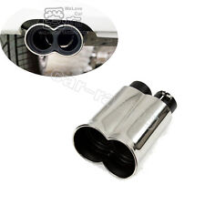 1Pc Exhaust Tips Muffler Fit for BMW ACS 2 Inlet M3 E46 E90 E60 Stainless Steel