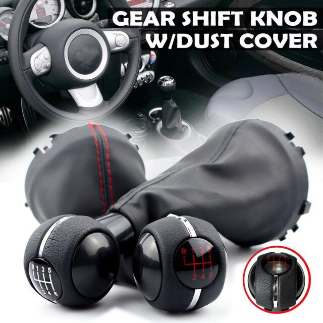 6 Speed Manual Leather Gear Shift Stick Knob For MINI COOPER F54 F55 F56