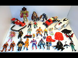 Lot-Vintage-Action-Figures-Access-1979-97-DC-MASK-Ghostbusters-Marvel-TMNT-More