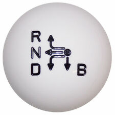 White shift knob with pattern for Prius M6x1.00 Thread Size