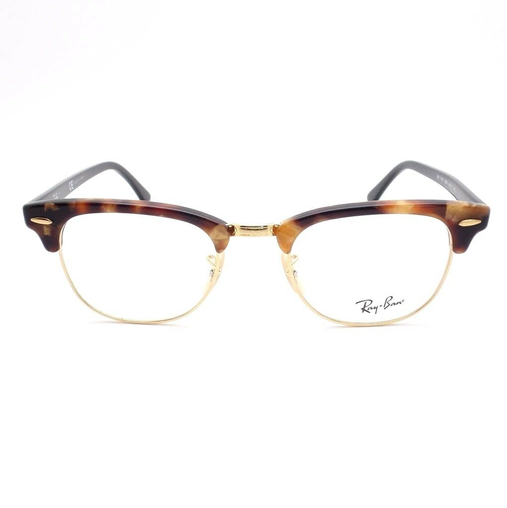 52ead50e15f Authentic Ray Ban RX 5154 Clubmaster 5494 Brown Havana Gold Eyeglasses 49mm  for sale online