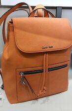 Calvin klein womens nadina metro flap backpack sorbet orange