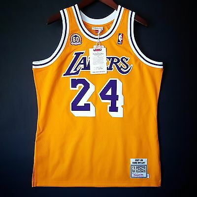 Sporting Goods Basketball Hearty 100% Authentic Kobe Bryant Mitchell & Ness 07 08 Lakers Jersey Size 48 Xl Mens Relieving Heat And Sunstroke
