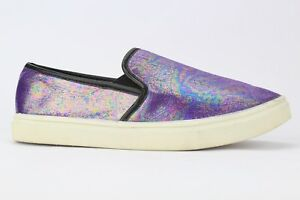 d73be45cbc93 Steve Madden Girl s Youth Purple Finale Slip-on Sneakers Size 5