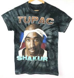 Tupac-Shakur-Black-T-Shirt-2Pac-Tie-Dye-Tee-Size-S-Small-Rap-Hip