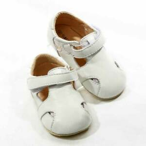 NEW-SKEANIE-Pre-walker-Leather-Sunday-Sandal-White-0-to-2-years
