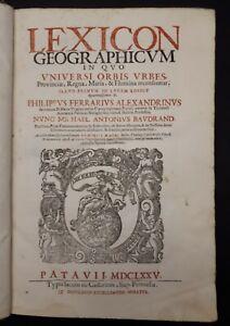 Philippus-Ferrarius-Lexicon-Geographicum-1675-2-vol-in-1