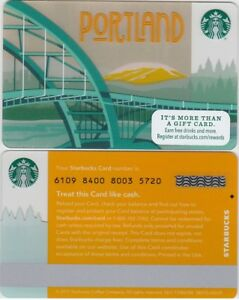 Details About New 2015 Starbucks Coffee Portland Oregon Gift Card Reloadable Pdx Or Icon Mug