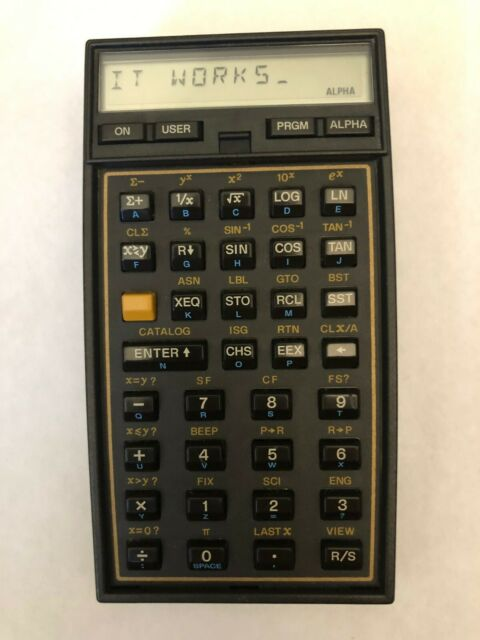 Hewlett Packard HP 41CX with Math / Stat Module - Great Condition
