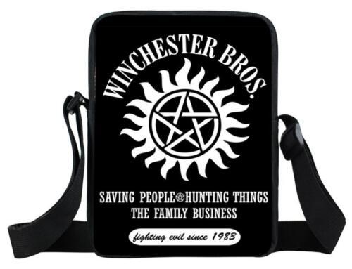 Supernatural Mini Messenger Bag 3D Print Teenage Boys Girls Crossbody Bags R03