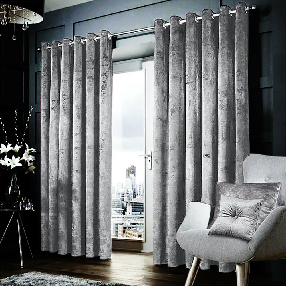 Thermal Blackout Curtains Pair Eyelet Ring Top Ready Made