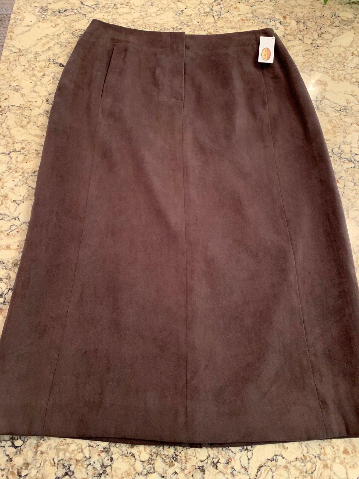 Talbots Women's Skirt, Suede Feel, Chocolate Brown, Size 6, NWT ()