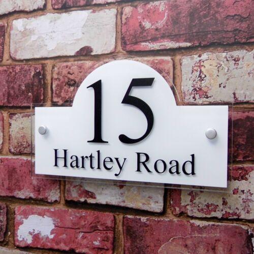 House Sign Name Address Plaque /'Bridge/' shape Door Number Plates Property Name