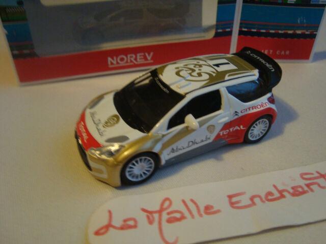 CITROEN DS3 WRC ABOU DHABI NOREV JET CAR  NEUF EN BOITE 1/43°