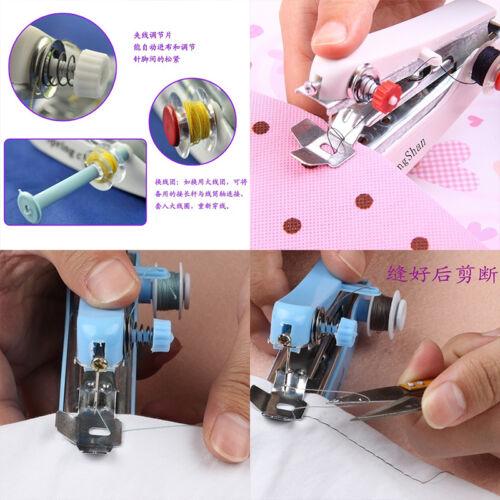 Mini Portable Needlework Cordless Hand-Held Clothes Fabrics Sewing Machine—HQ