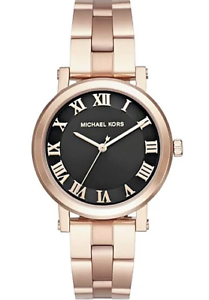 1f6dee854c1d Image is loading Michael-Kors-MK3585-Norie-Rose-Gold-Tone-Stainless-