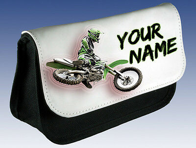 MOTOCROSS MX BIKE PERSONALISED PENCIL CASE GREAT GIFT /& NAMED TOO DS CASE