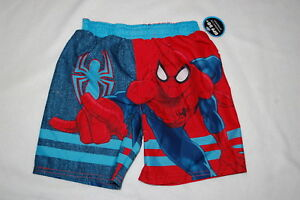 9536ce5cec1f7 Toddler Boys Swim Trunks SPIDERMAN Red Blue UV PROTECTION D.C. ...