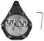 Porte-support-vignette-Assurance-moto-alu-carbone-chopper-custom-critair-etanche miniature 1