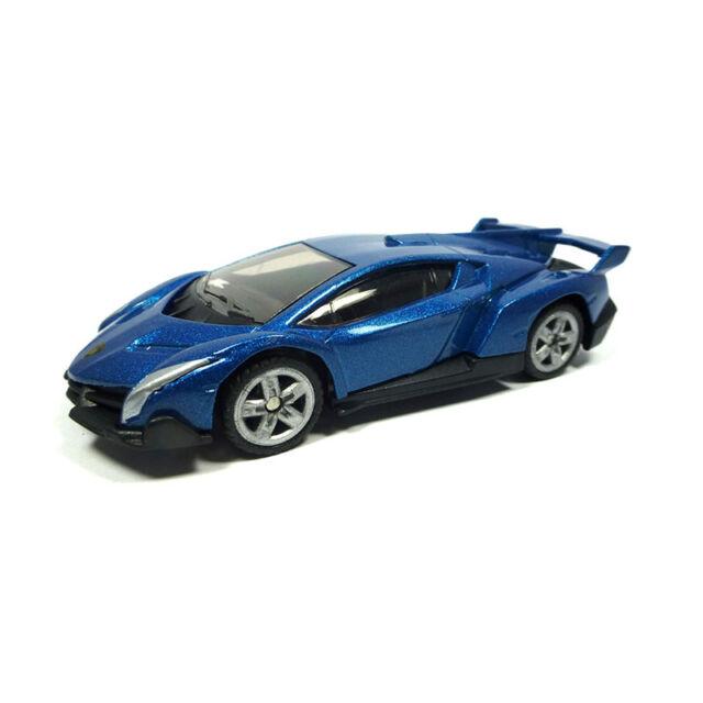 Siku 1485 Lamborghini Veneno Bleu Métallic Maquette de Voiture (Boursouflure)