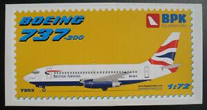 BPK-7203-BOEING-737-200-BRITISH-AIRWAYS-1-72-Modellbausatz-Big-Planes-Kits