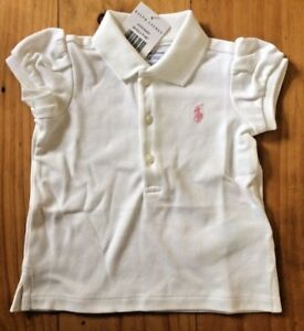 84c8a726 Ralph Lauren Baby Girl Polo T Shirt Top 9 Months New With Tags BNWT ...