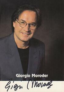 GIORGIO MORODER --- original signiert - A5#13a