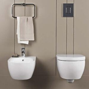 Accessori Bagno Pozzi Ginori.Dettagli Su Sanitari Sospesi Pozzi Ginori Fast Sistema Igienico Rimfree Arredo Bagno Design