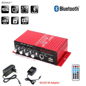 Details about Kinter MA-130 Stereo Amplifier Bluetooth Power Amp MIC USB FM  MP3 Digital Player