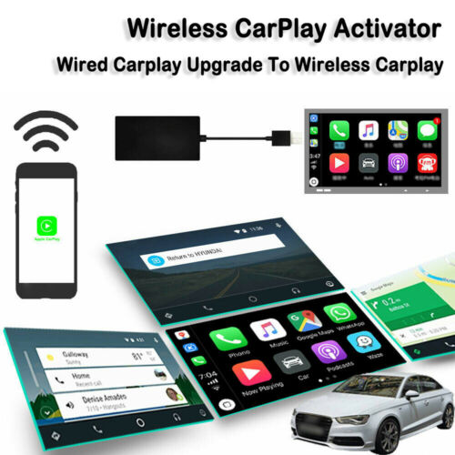 Car Wired to Wireless CarPlay Upgrade Activator USB Plug /& Play Dongle