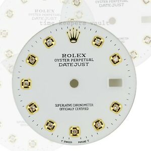 Custom-White-Genuine-Diamond-Dial-36mm-to-Fit-Datejust-16013-Two-tone