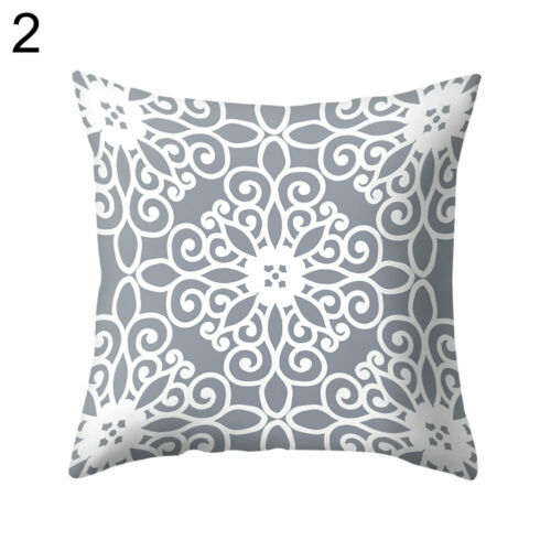 Grey Background Geometric Square Throw Pillow Case Cushion cover Bedding Article