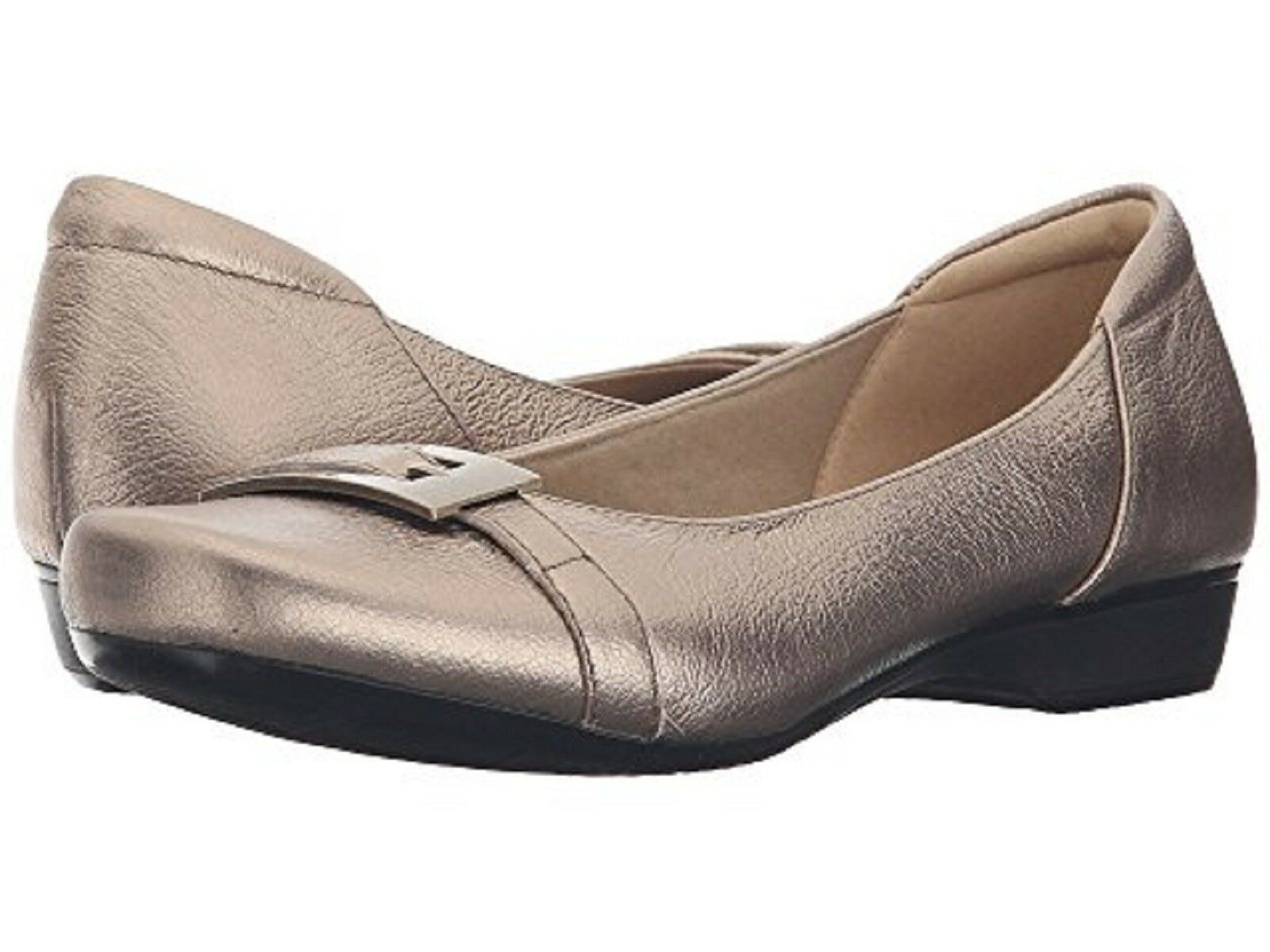 CLARKS Ladies 'BLANCHE WEST' Flats GOLD METALLIC Sz. 8 M NIB