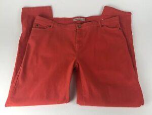 Judy-Blue-Women-039-s-Plus-Size-3X-Jeans-Orange-Stretch-Skinny-Summer-Weight-Twill