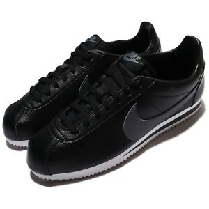 Nike Classic Cortez Leather Black Grey Men Shoes Sneakers 749571-011
