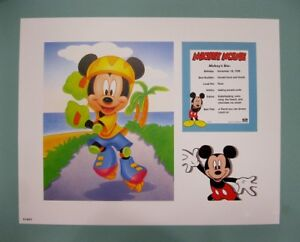 Disney-11-034-x-14-034-Mickey-Mouse-BIO-Lithograph-Print-by-OSP-Publishing