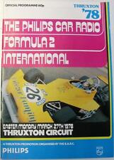 THRUXTON Formula 2 International 27th Mar 1978 Motor Racing Official Programme