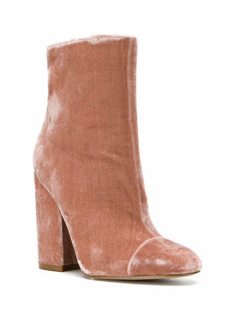 275 size 7.5 Kendall And Kylie Kaden Pink Velvet Ankle Booties Womens Shoes